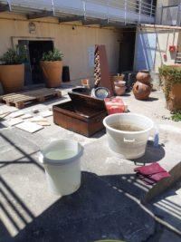 Stage de cuisson raku